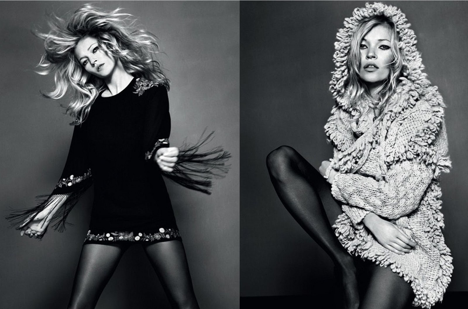 A new Kate Moss x Topshop collection in April 2014