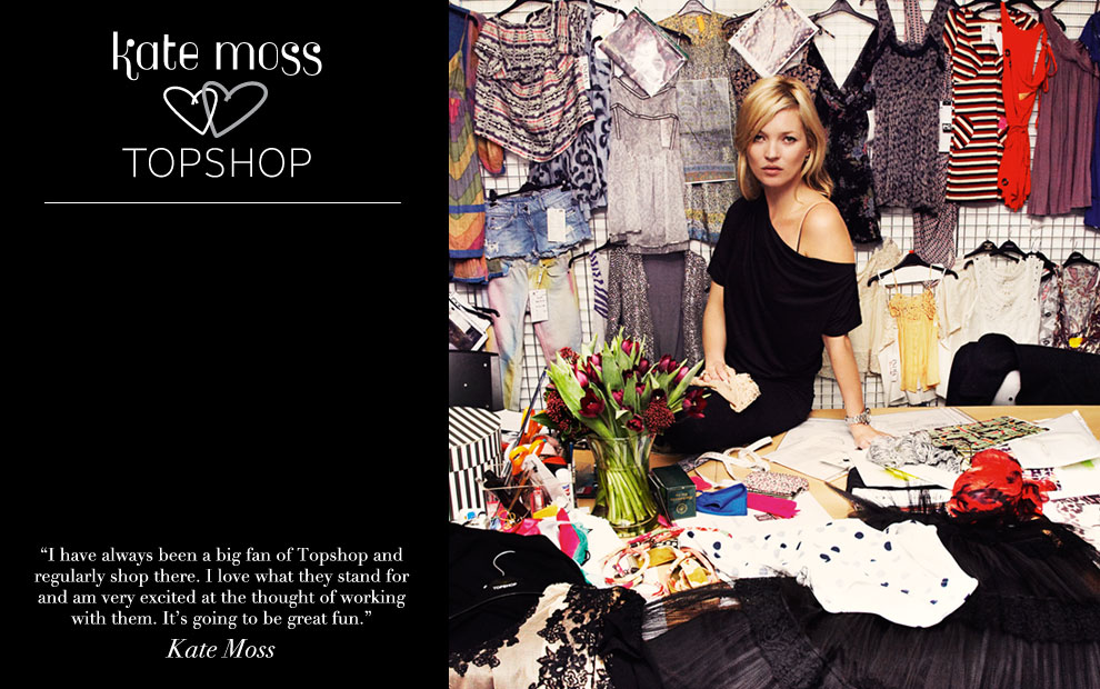 Kate Moss x Topshop collection in April 2014