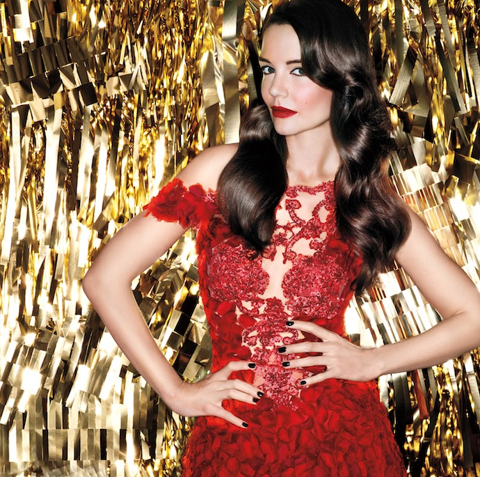 Katie Holmes for Bobbi Brown Old Hollywood Collection Christmas 2013