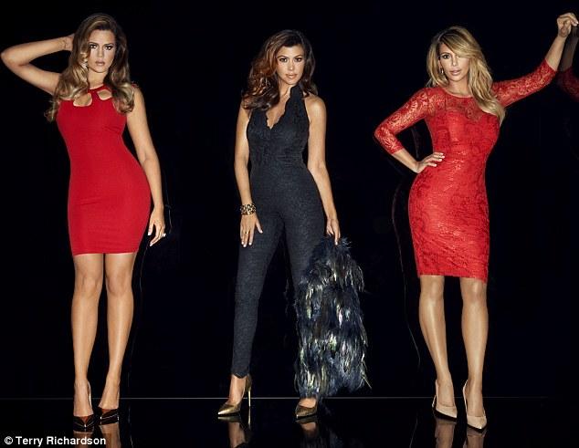 Khloe, Kourtney and Kim by Terry Richardson for Kardashian Kollection for Lipsy