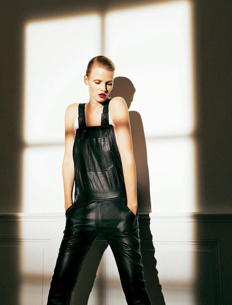 Lara Stone by Nico for Madame Figaro October 2013