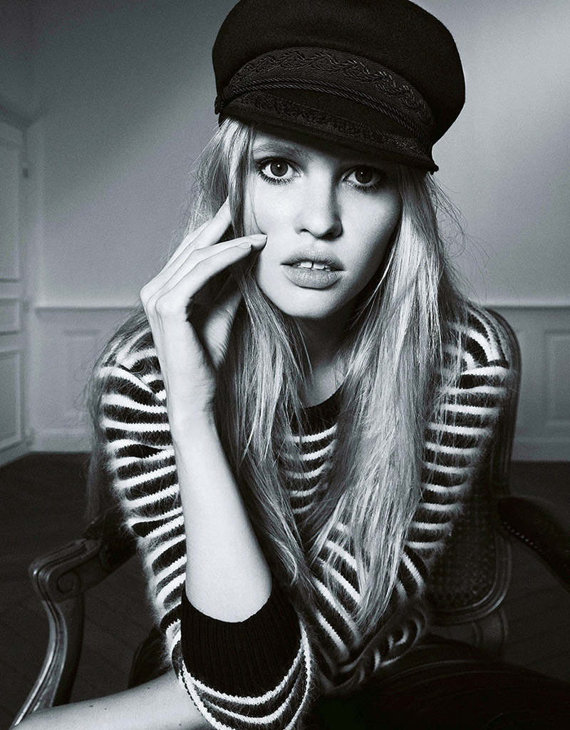 Lara Stone by Nico for Madame Figaro October 2013