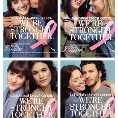 Let's Defeat Breast Cancer. We're Stronger Together, a campaign by Estée Lauder Companies