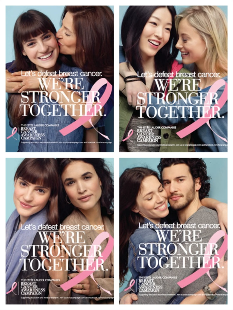 Let's Defeat Breast Cancer. We're Stronger Together, a campaign by Estée Lauder Companies