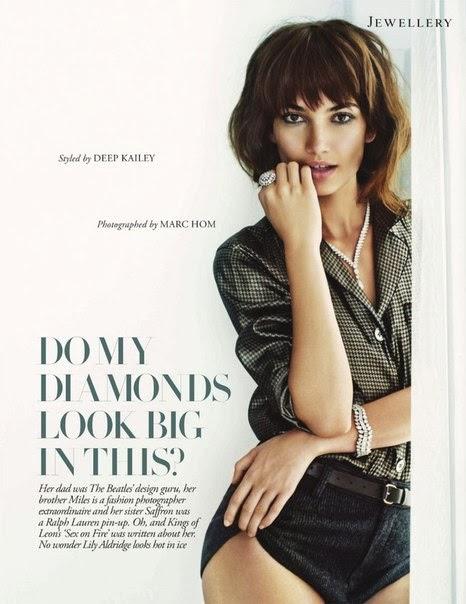 Lily Aldridge by Marc Hom for Tatler UK November 2013