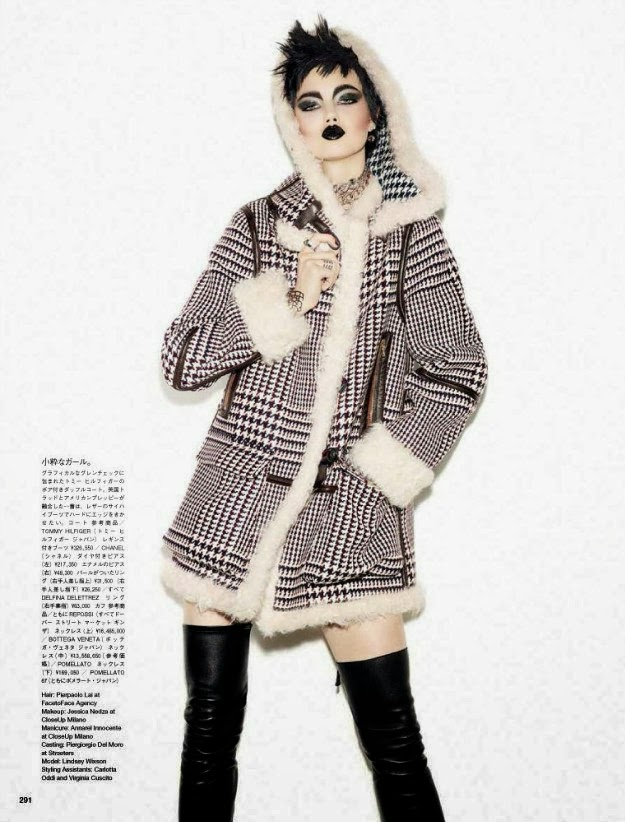 Lindsey Wixson by Giampaolo Sgura for Vogue Japan November 2013