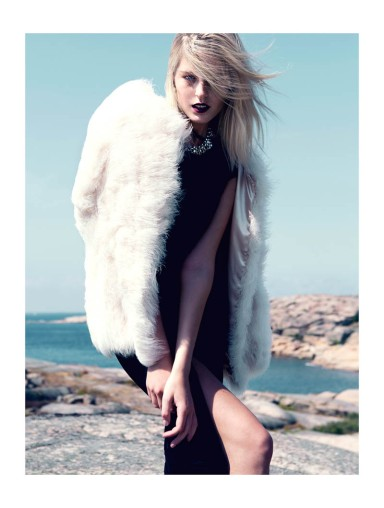 Linnea Regander by Fredrik Wannerstedt for Elle Serbia October 2013