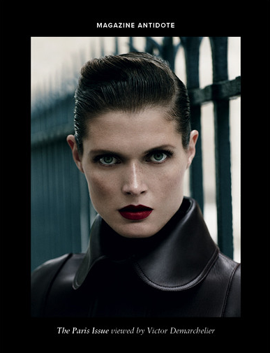Malgosia Bela by Victor Demarchelier for Antidote Magzine Fall 2013 ,The Paris Issue