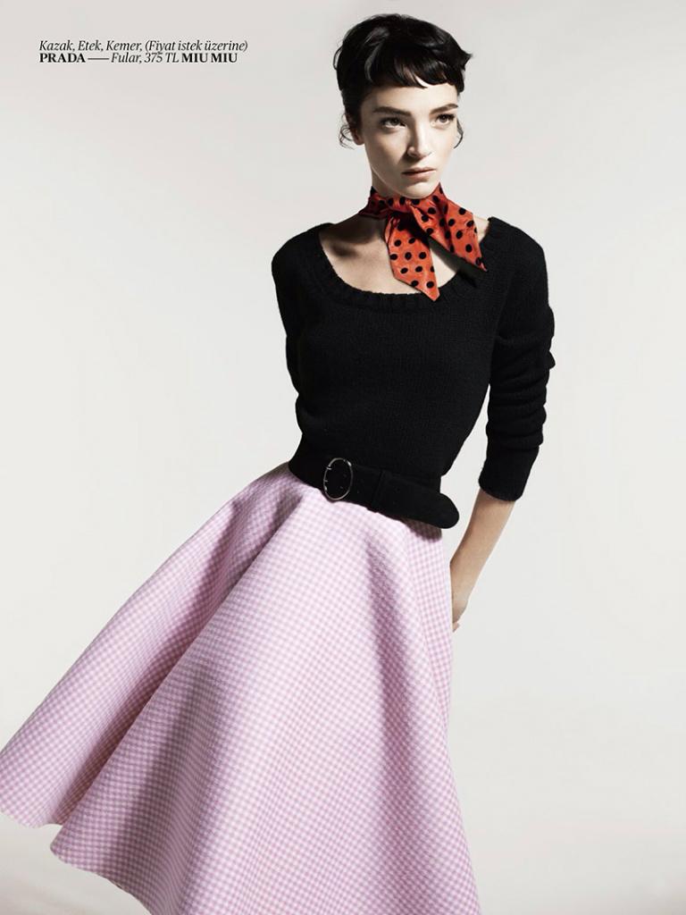 Mariacarla Boscono by Cuneyt Akeroglu for Vogue Turkey October 2013