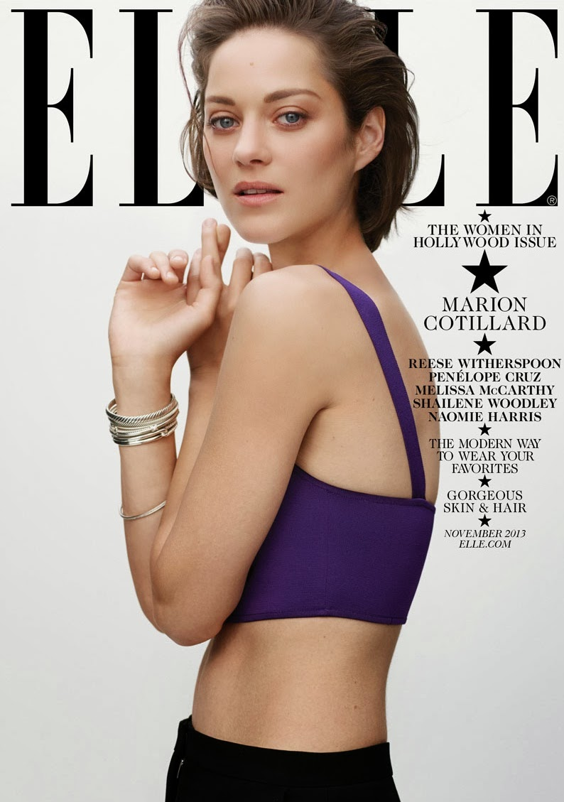 Marion Cotillard by Thomas Whiteside for ELLE US November 2013