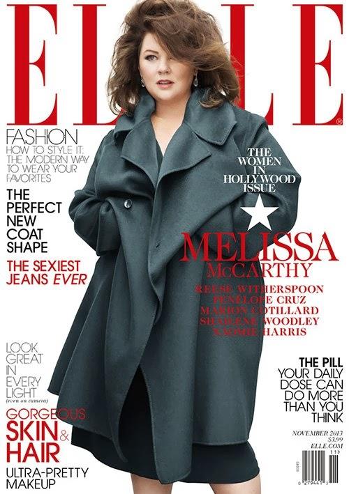 Melissa McCarthy by Thomas Whiteside for ELLE US November 2013
