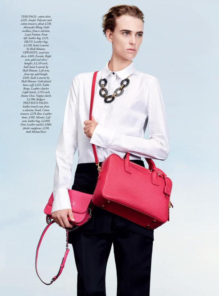 Milou by Thomas Lohr for Harper's Bazaar UK October 2013