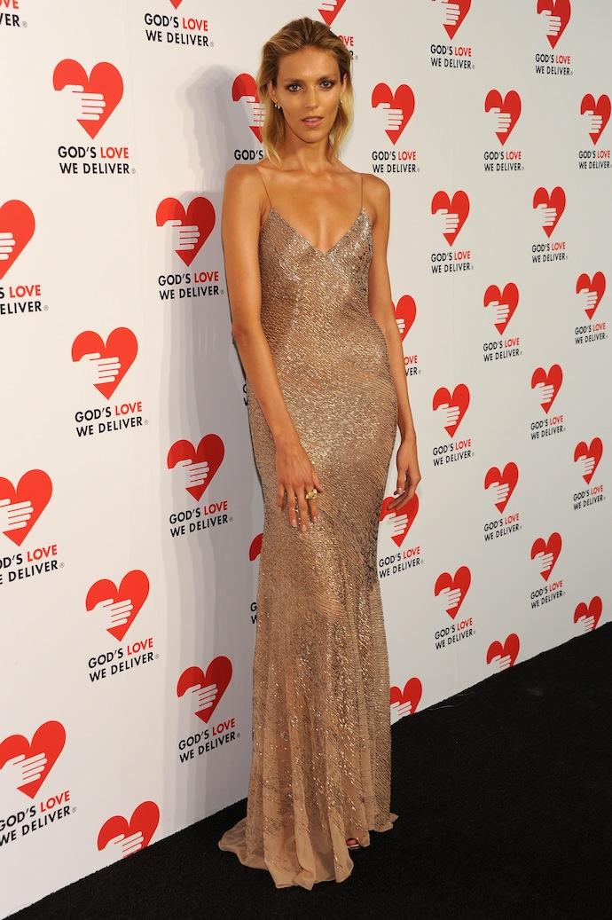 Anja Rubik attends God's Love We Deliver 2013 Golden Heart Awards Celebration at Spring Studios on October 16, 2013 in New York City.