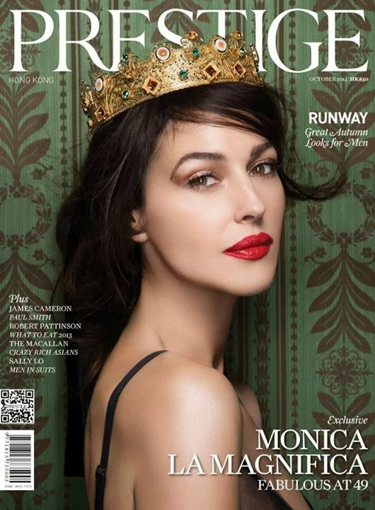 Monica Bellucci by Philippe McClelland for Prestige Hong Kong October 2013