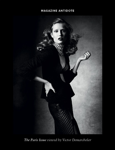 by Victor Demarchelier for Antidote Magzine Fall 2013 ,The Paris Issue
