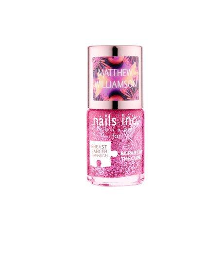 Nails Inc Limited Edition Pink Glitter Polish by Matthew Williamson