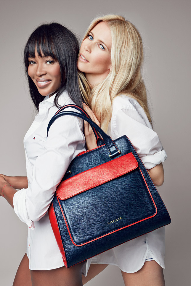 Naomi Campbell and Claudia Schiffer for Tommy Hilfiger for Breast Health International