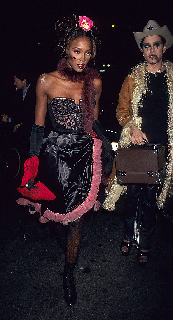 Naomi Campbell At the Madison Club Halloween Party in New York in 1996.