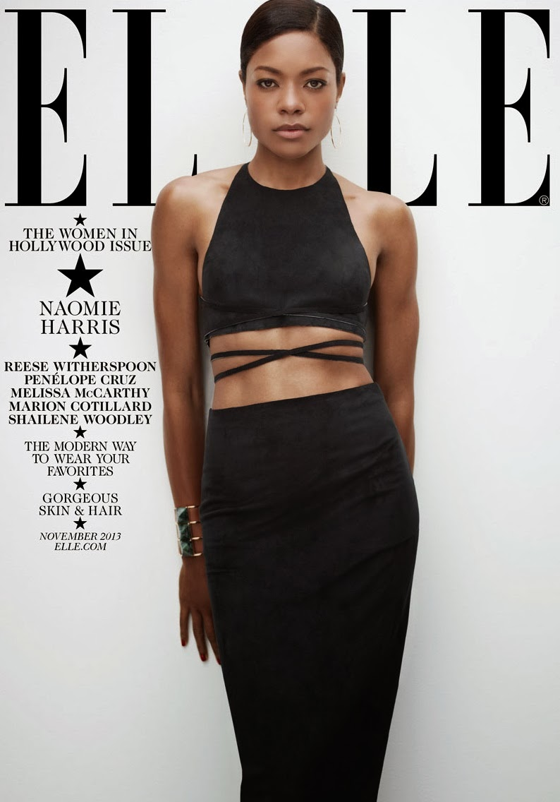 Naomie Harris by Thomas Whiteside for ELLE US November 2013