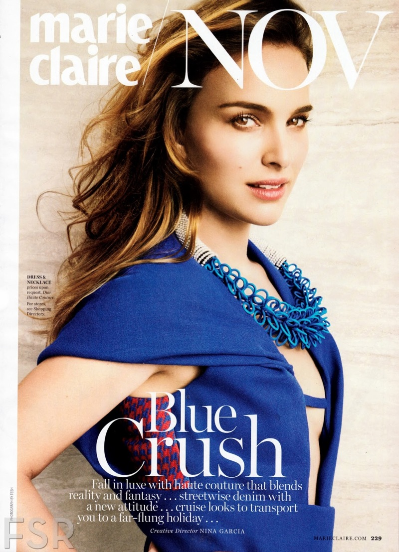 Natalie Portman by Tesh for MARIE CLAIRE US November 2013