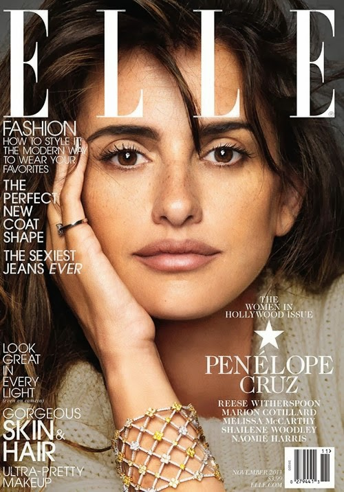 Penelope Cruz by Nico for ELLE US November 2013