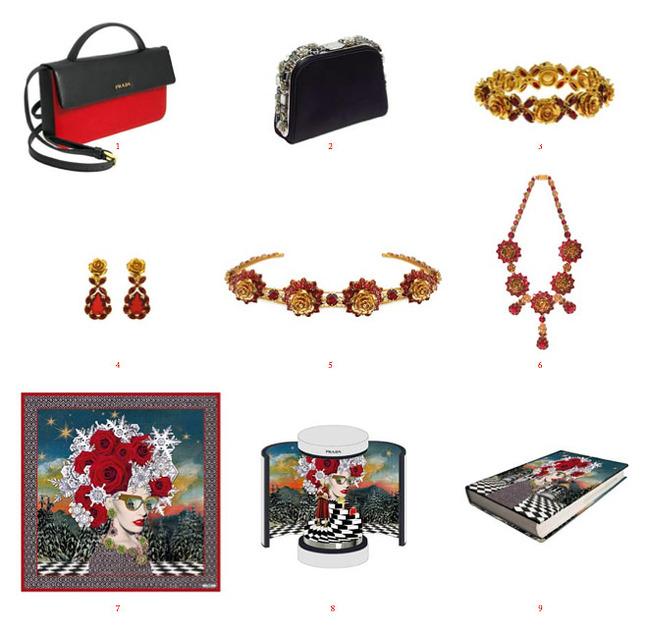 Prada christmas collection for printemps paris