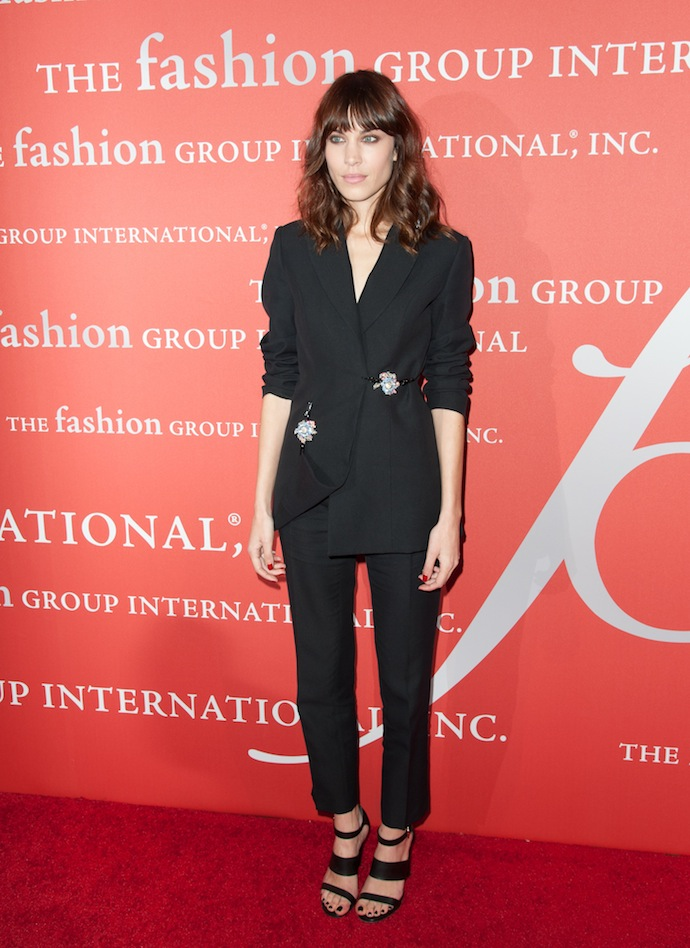 Model Alexa Chung attends the 30th Annual Night Of Stars presented by The Fashion Group International at Cipriani Wall Street