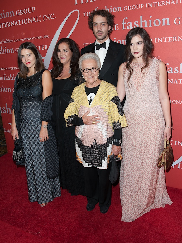 Margherita Missoni, designer Angela Missoni, Francesco Missoni, Rosita Missoni, Jennifer Missoni attends the 30th Annual Night Of Stars