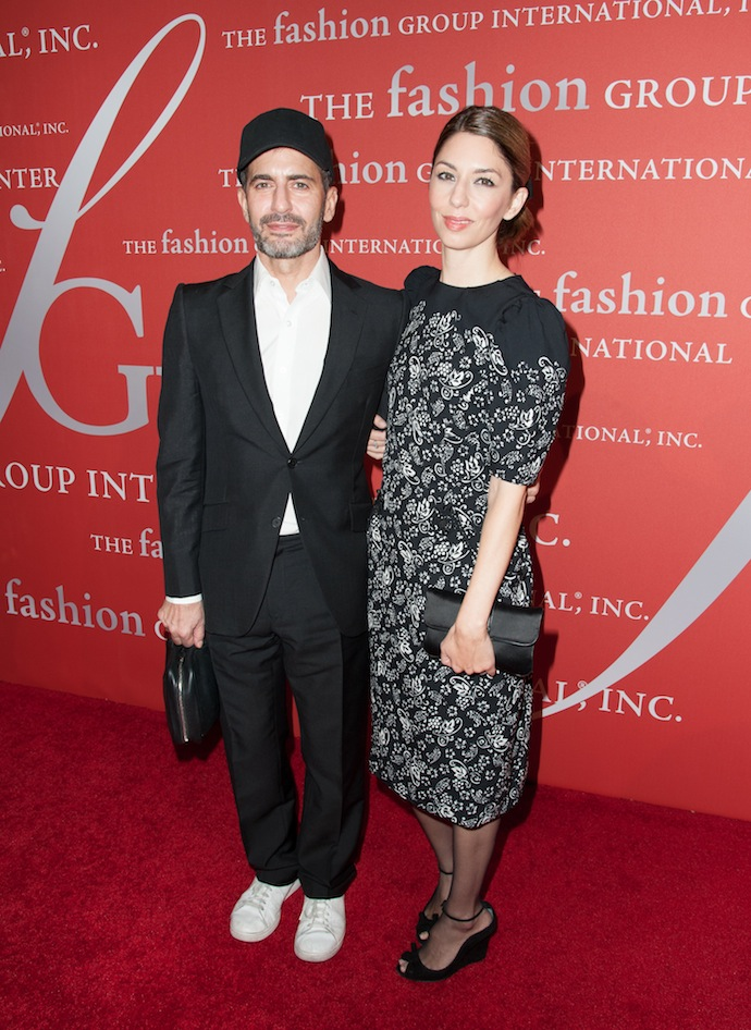 """Superstar Award"" honoree, designer Marc Jacobs, left, and director Sofia Coppola  attend the 30th Annual Night Of Stars presented by The Fashion Group International at Cipriani Wall Street"