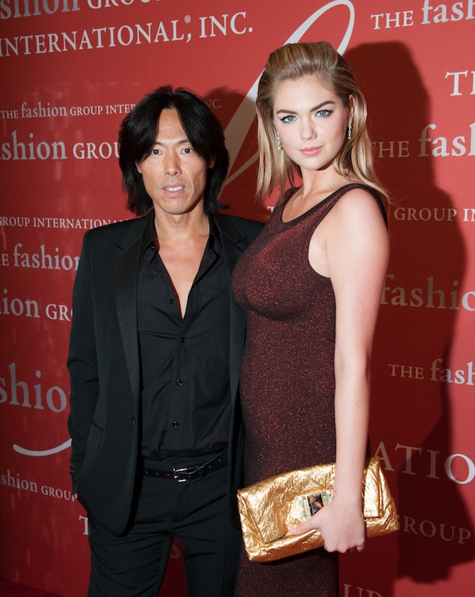Steven Gan and Kate Upton attend the 30th Annual Night Of Stars presented by The Fashion Group International at Cipriani Wall Street