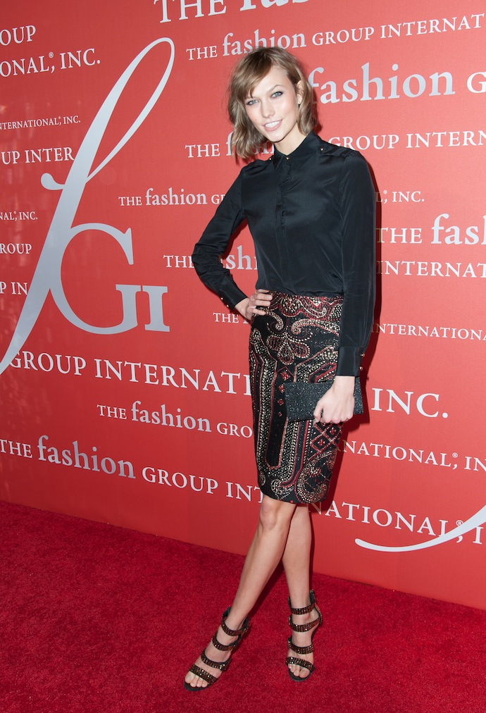 Karlie Kloss attends the 30th Annual Night Of Stars presented by The Fashion Group International at Cipriani Wall Street