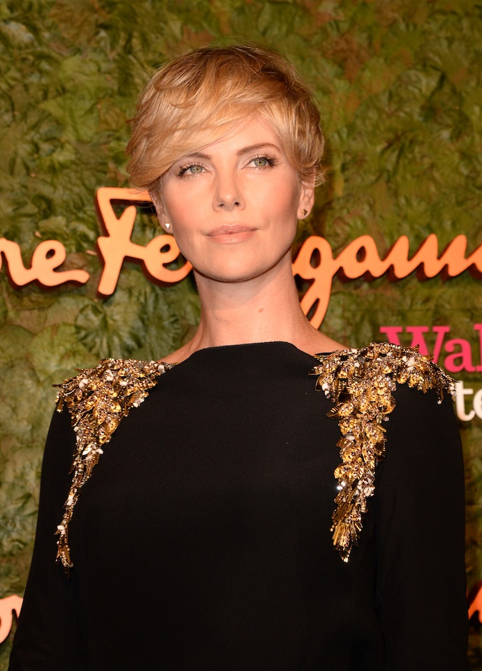 Charlize Theron arrives at the Wallis Annenberg Center for the Performing Arts Inaugural Gala presented by Salvatore Ferragamo at the Wallis Annenberg Center for the Performing Arts
