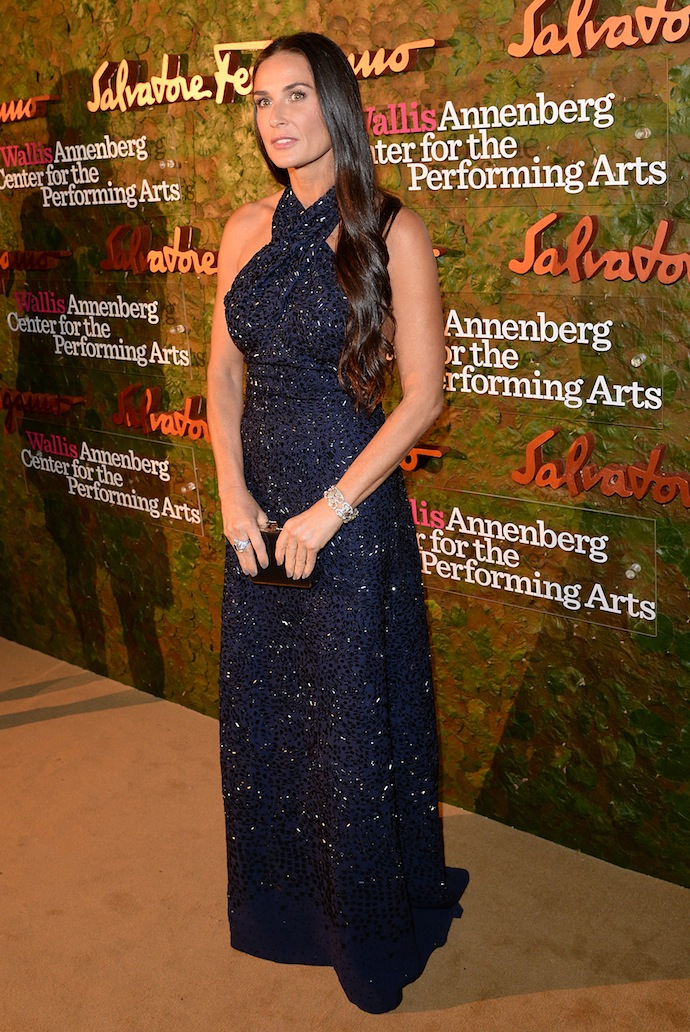 ctress Demi Moore arrives at the Wallis Annenberg Center for the Performing Arts Inaugural Gala