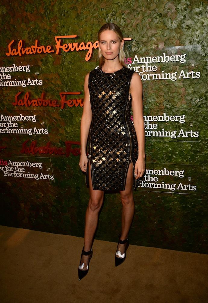 Model Karolina Kurkova arrives at the Wallis Annenberg Center for the Performing Arts Inaugural Gala