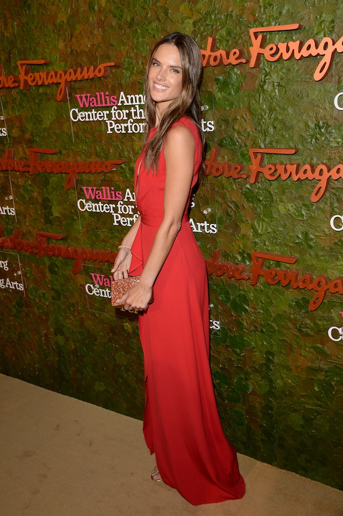 Model Alessandra Ambrosio arrives at the Wallis Annenberg Center for the Performing Arts Inaugural Gala
