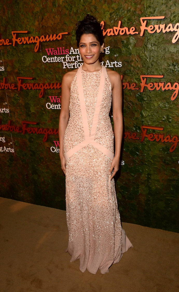Freida Pinto arrive at the Wallis Annenberg Center for the Performing Arts Inaugural Gala
