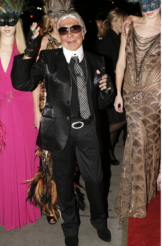 Roberto Cavalli As Karl Lagerfeld at Cavalli's Halloween Ball in New York in 2007.