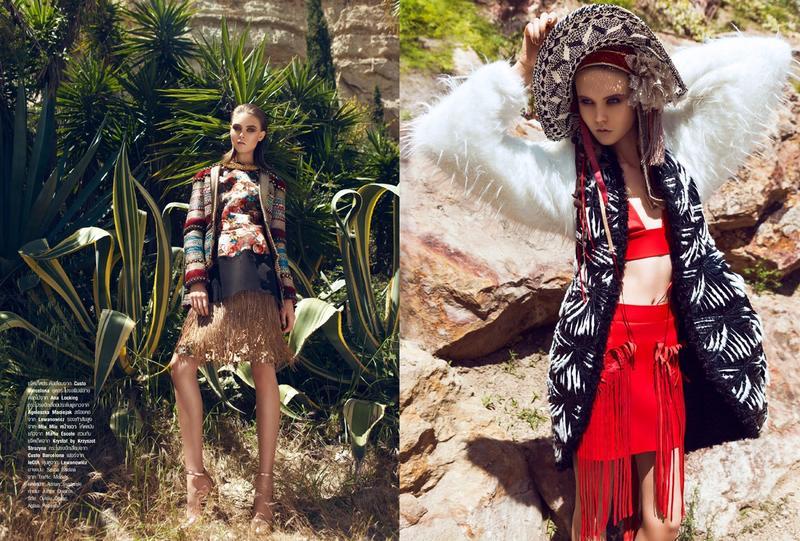 Sasha Baldina by Lukasz Pukowiec for Harper's Bazaar Thailand October 2013