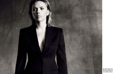 Scarlett Johansson by Paolo Roversi for Vogue Italia October 2013