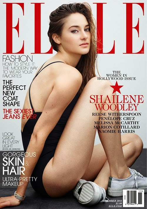 Shailene Woodley by Thomas Whiteside for ELLE US November 2013