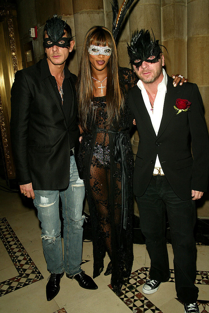 Stefano Gabbana, Naomi Campbell, Domenico Dolce At Dolce & Gabbana's Halloween Party in New York in 2002.