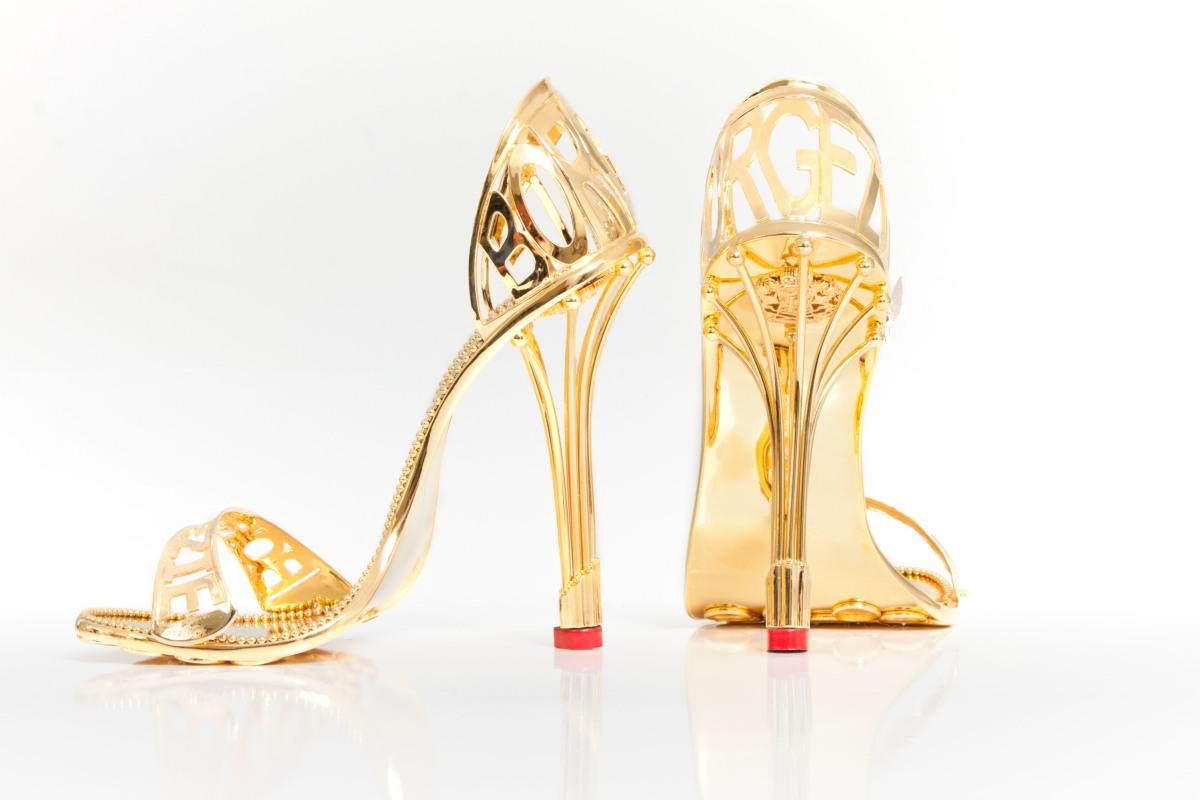 The Borgezie Gold Cleopatra Stiletto