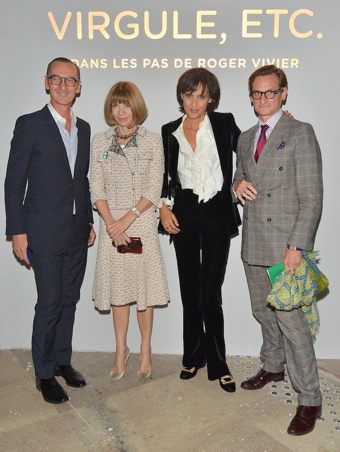 Bruno Frisoni, Anna Wintour, Ines de la Fressange and Hamish Bowles