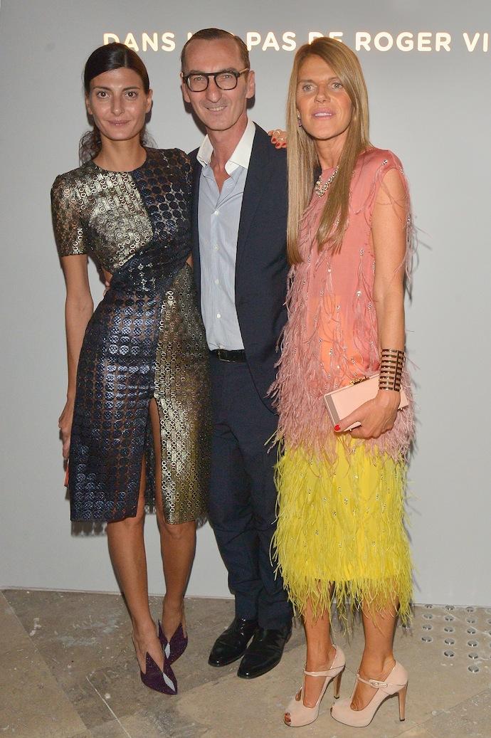 Giovanna Battaglia, Bruno Frisoni and Anna Dello Russo