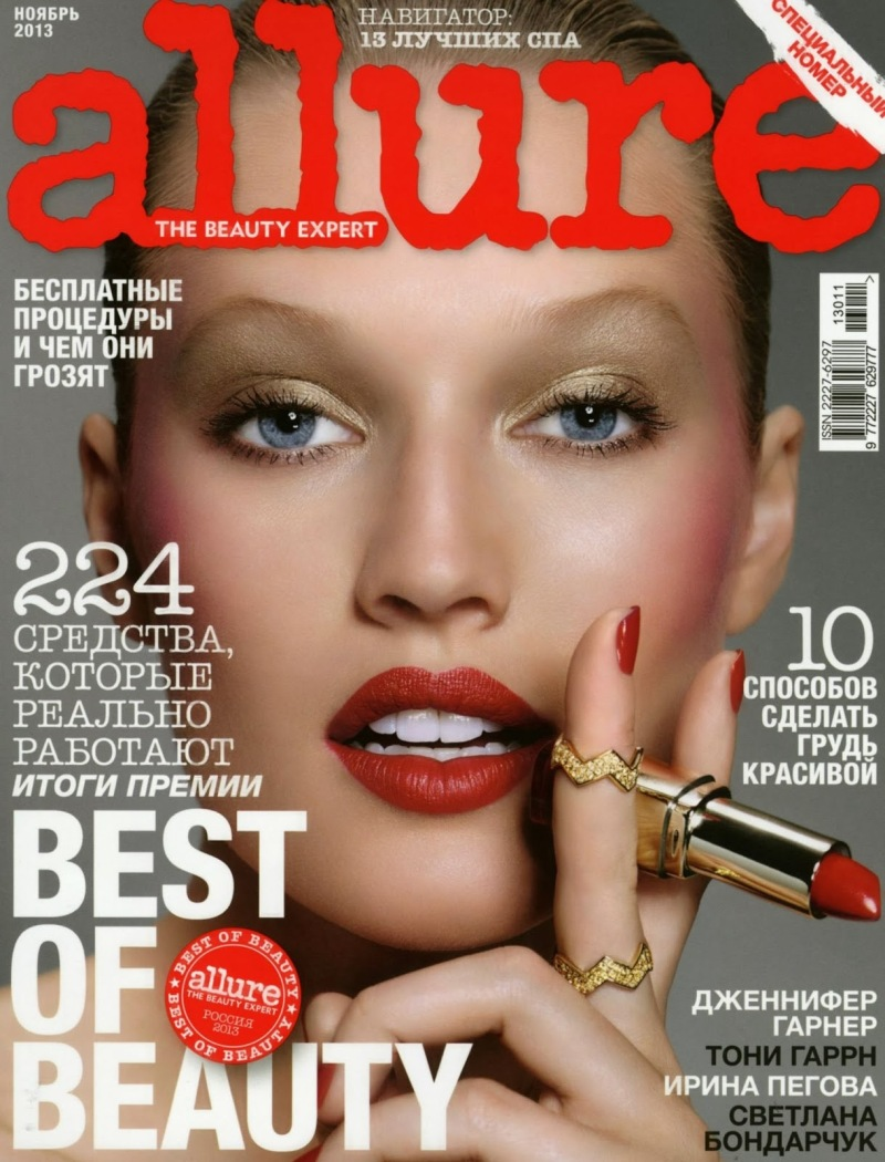 Toni Garrn by Paola Kudacki for Allure Russia November 2013