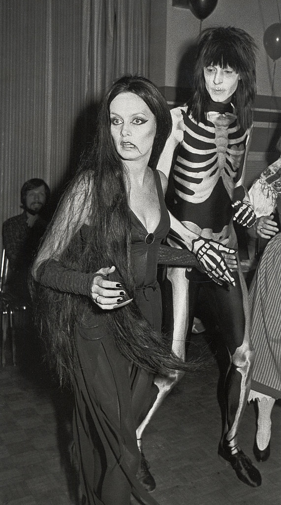 Twiggy At a Halloween party in New York in 1984.