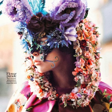 Vogue Netherlands November 2013 : Flower Bomb