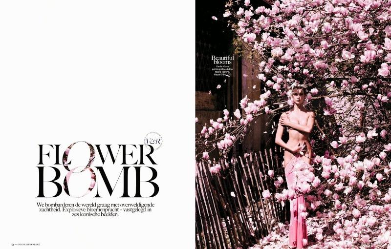 Vogue Netherlands November 2013 : Flower Bomb