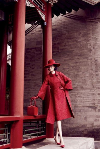"""Portrait of a Lady"" in Vogue China, featuring Sui He, styled by Anastasia Barbieri. Photo by Mario Testino"