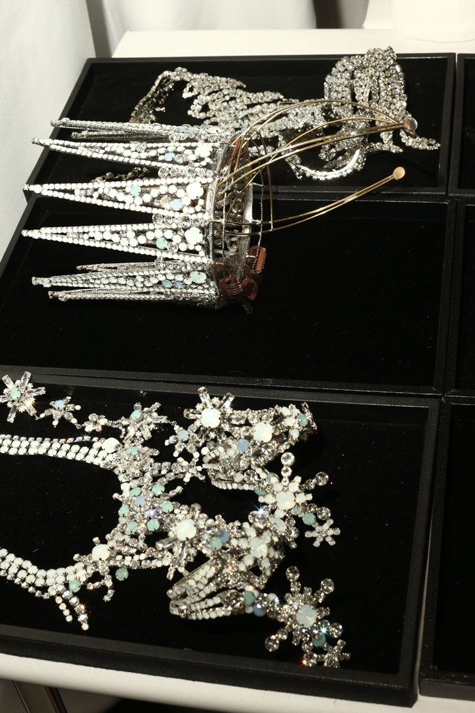 A detailed view of the Swarovski pieces for the Victoria's Secret Fashion Show. Photo by Thomas Iannaccone